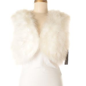 NWT feather vest by Ann Taylor. Gorgeous!